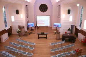 Church projectors in London installation by Newtech Southern Ltd