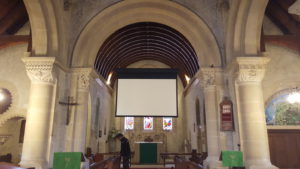 Church projector screen